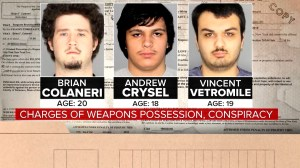 Three men charged in planning attack on Muslim community in New York set to appear in court