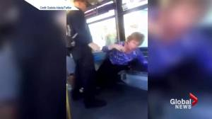 Disturbing fight on bus caught on tape
