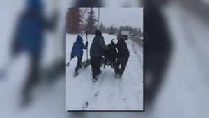 Family thanks Good Samaritans for help with wheelchair on snow covered street