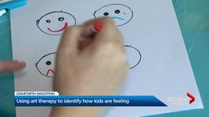 Using art therapy to identify how kids are feeling in wake of Toronto Danforth shooting (02:25)
