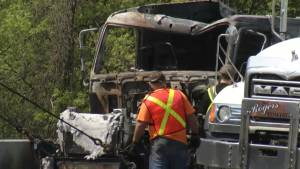 Truck fire causes closure of eastbound 401 Hwy. near Napanee