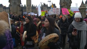 Across Canada, women march in solidarity with U.S.