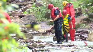 Family rescued at Hamilton waterfall after flash flooding