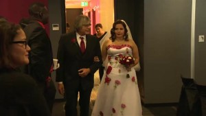 Winnipeg couples cutting costs by sharing wedding day