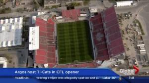 CFL 2016 season kicks off with Argos hosting Tiger-Cats at BMO Field (03:04)