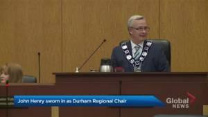 John Henry sworn in as Durham Regional Chair (01:35)