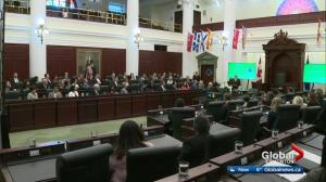 Orientation day at the Alberta Legislature for 47 first-time MLAs