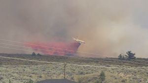 Water bombers respond to grass fire on east side of Kamloops