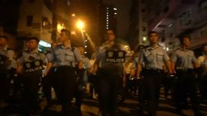 Hong Kong police chase protesters through nightspot