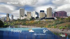 Edmonton early morning weather forecast: Tuesday, September 18, 2018