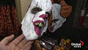 The scary clown in demand for Halloween 2017