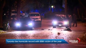 89 homicides: Toronto's unsettling milestone