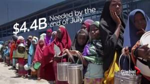 20 million people in 4 countries facing starvation, famine: UN