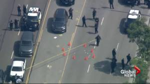 Aftermath of L.A. murder suspect livestreaming shooting on Facebook
