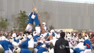 Military cadets take on the most violent sport in Japan