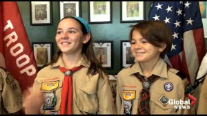 Boy Scouts of America welcome first all-girl troupe