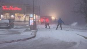 Winnipeg hit with winter storm