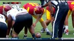 Blind snapper takes the field to massive cheers during U.S. college football game