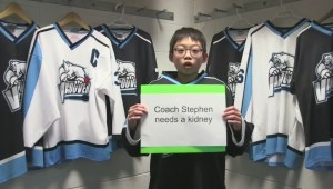 Campaigning pee wee hockey team gets surprise