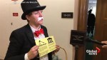 Citizen activist group sends 'Monopoly Guy' to Equifax hearing