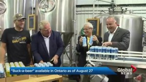 Ontario's dollar beer rolled out