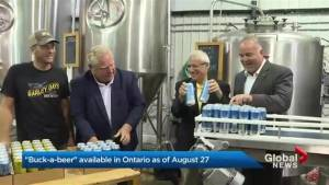 Ontario's dollar beer rolled out (02:31)