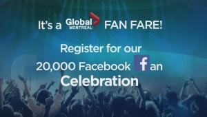 Global Montreal celebrates 20,000 Facebook followers