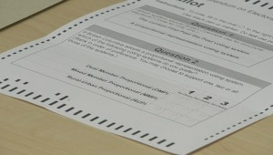 Proportional representation defeated in referendum