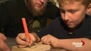 N.B. youngster handcrafting magic wands to help sick kids