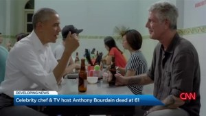 Celebrity chef & TV host Anthony Bourdain dead at 61