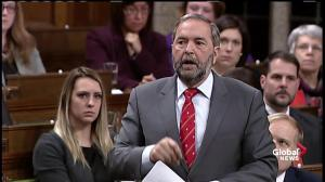 Mulcair asks Justin Trudeau to define the middle class
