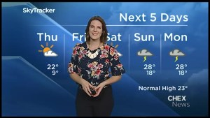 Cooler temperatures for Thursday and Friday