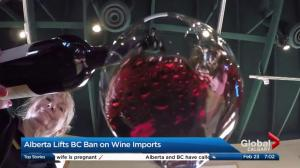 Alberta lifts B.C. ban on wine imports