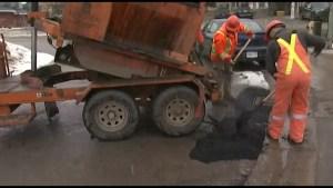 Pothole season has begun, Kingston Public Works Staff work around the clock to keep up