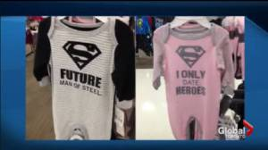 Superhero Baby Onesies sold at Target being labelled Sexist