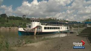 Water conditions may have contributed to stuck Edmonton Riverboat