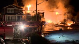 Port Coquitlam fire destroys multiple homes