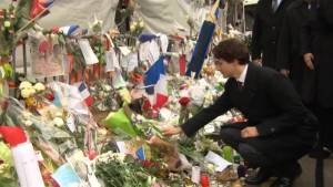 Trudeau pays tribute to Paris attack victims
