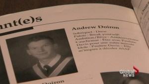 Friends of Sergeant Doiron remember fallen soldier