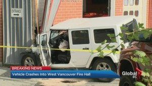 Crash into West Vancouver fire hall causes major damage