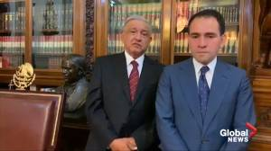 Video of Mexico's grim-faced Finance Minister accepting job goes viral