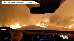 Terrifying video shows family's desperate drive through California wildfires