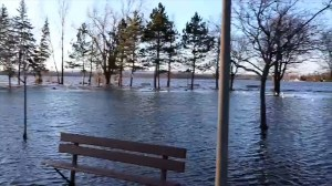 Ottawa riverfront park left almost underwater during flood emergency