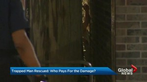 Concerns raised after daring rescue damages private property