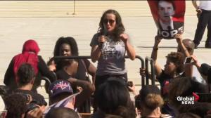 Kavanaugh protest: Woman who confronted Sen. Flake speaks out