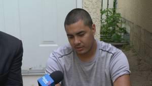 Linus Kaysaywaysemat speaks out after being bitten by Regina Police dog (03:36)