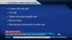Toronto police search for stolen vehicle with child inside