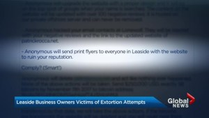 Prominent Leaside businessmen say they're being targeted by extortionist