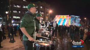 The Grey Cup Festival gets underway in downtown Edmonton