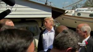Trump tours destruction in North Carolina, says he'll help families